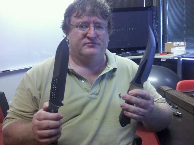 Gabe Newell e i suoi coltelli!
