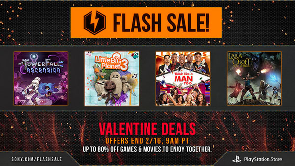 Sconti flash per San Valentino sul PlayStation Store americano
