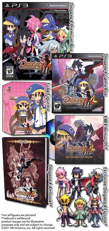 Disgaea 4: annunciate le limited edition per gli USA