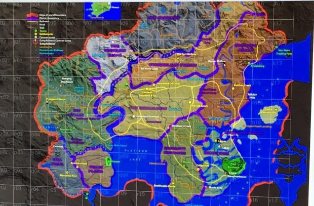 Red Dead Redemption 2: trapelata la mappa di gioco?
