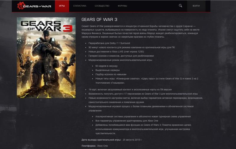 [Aggiornata] Gears of War 3 HD uscirà ad agosto su Xbox One?