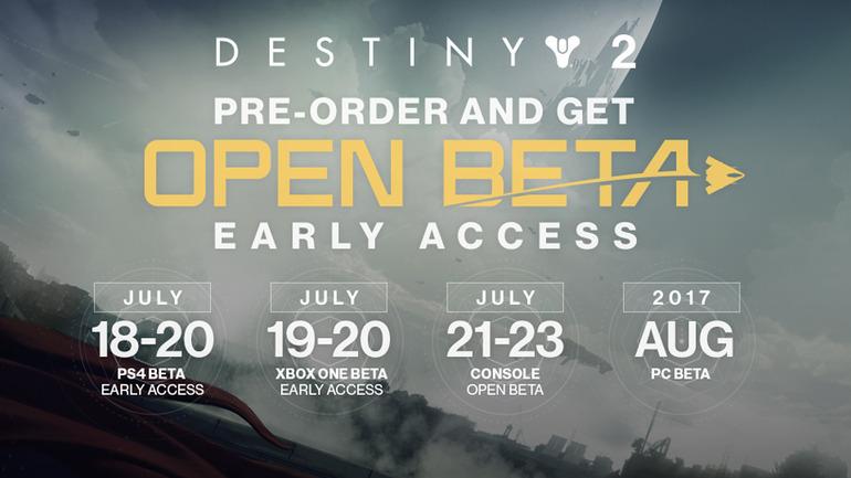 Destiny 2 Beta: date, orari e contenuti della fase di test su PS4 e Xbox One