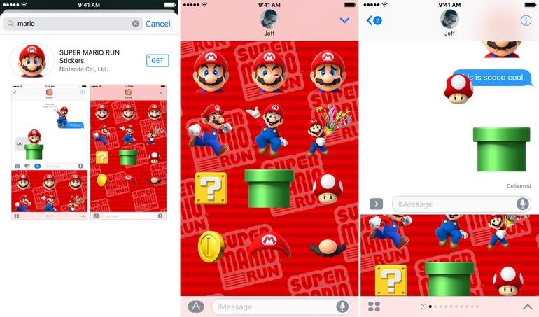 Sull'iMessage App Store arrivano gli Sticker di Super Mario Run