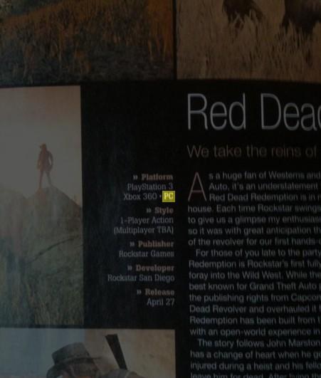 Red Dead Redemption giungerà anche per PC, secondo GameInformer