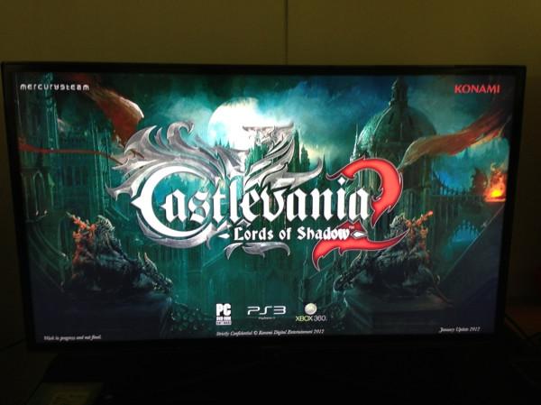 Castlevania: Lords of Shadow 2 presentato oggi alla stampa. Immagine della schermata iniziale