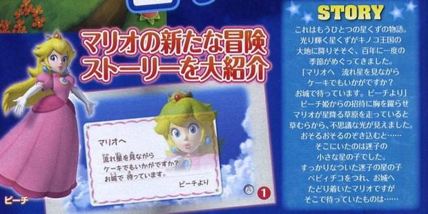 Super Mario Galaxy 2, la lettera di Peach e breve sinossi
