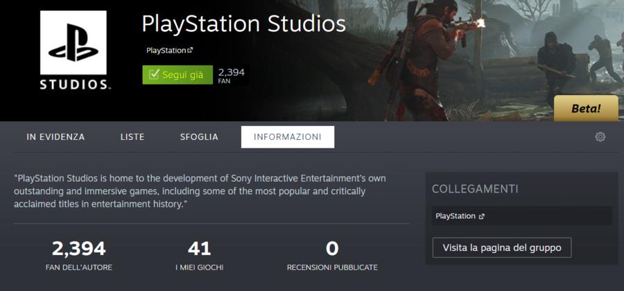 PlayStation, outras exclusividades de PC?  A página Steam indica 15 produtos ainda não revelados