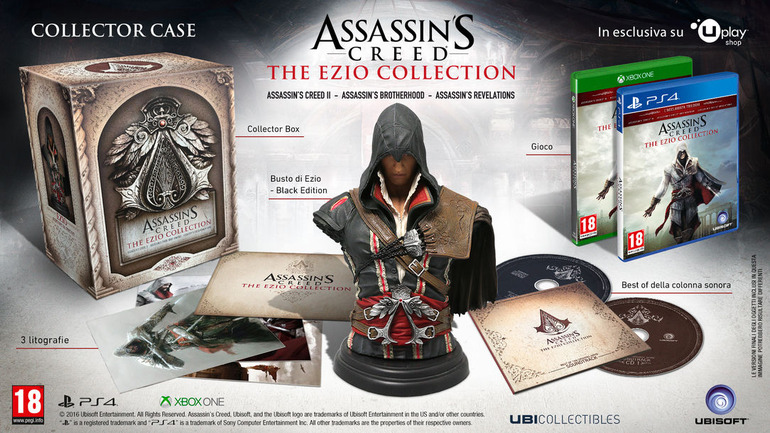 Assassin's Creed The Ezio Collection: svelati i contenuti della Limited Edition