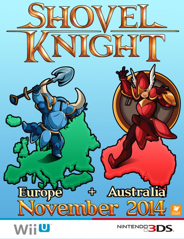 Shovel Knight per Wii U e 3DS arriverà in Europa a novembre