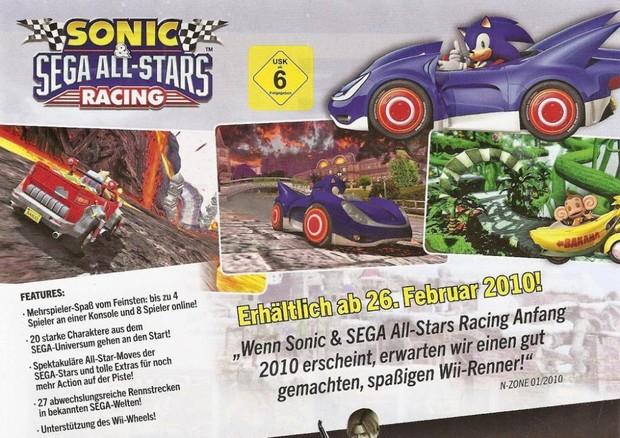 Confermato il numero di tracciati di Sonic & Sega All Star Racing
