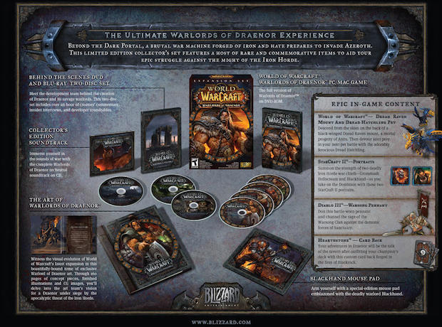 World of Warcraft: Warlords of Draenor, collector's edition annunciata