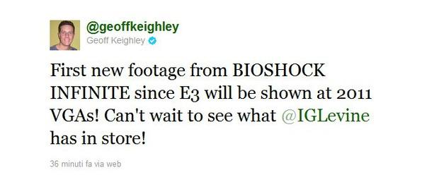Bioshock Infinite: un nuovo filmato inedito agli Spike Video Game Awards