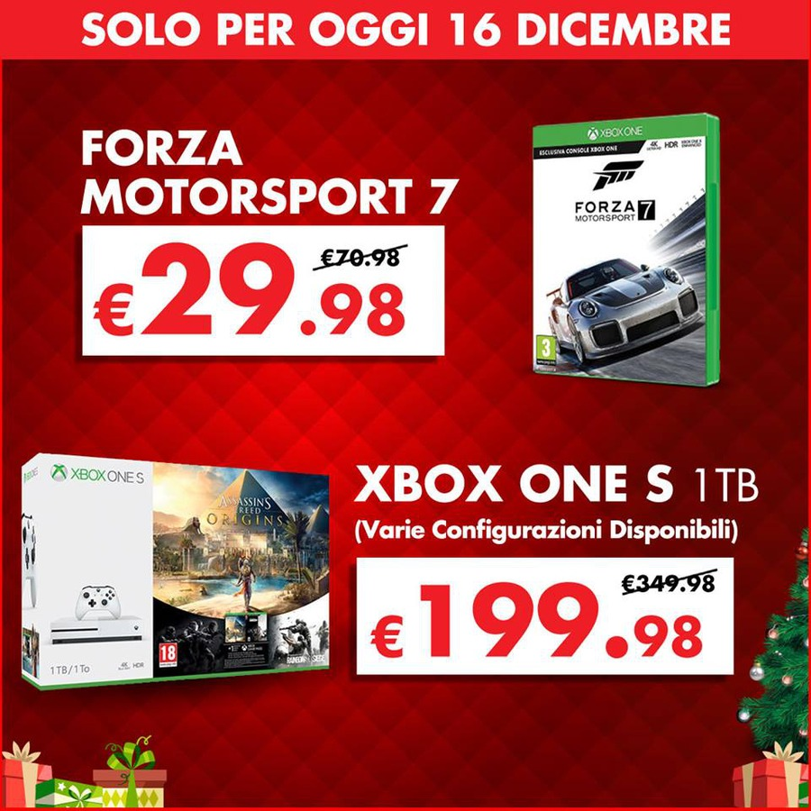 gamestop xbox one 1tb forza motorsport 7 e tekken 7 tra le offerte di oggi. Black Bedroom Furniture Sets. Home Design Ideas