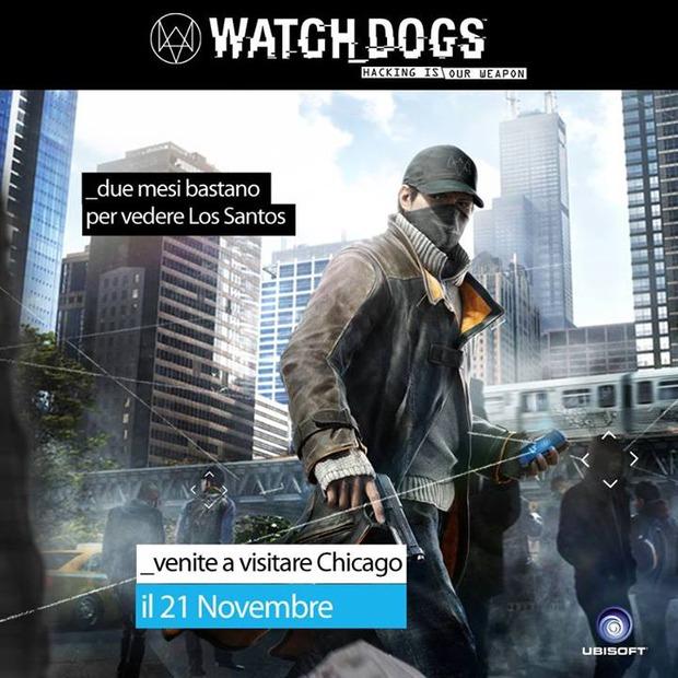 Watch Dogs: gli sviluppatori citano GTA V con un'immagine ironica