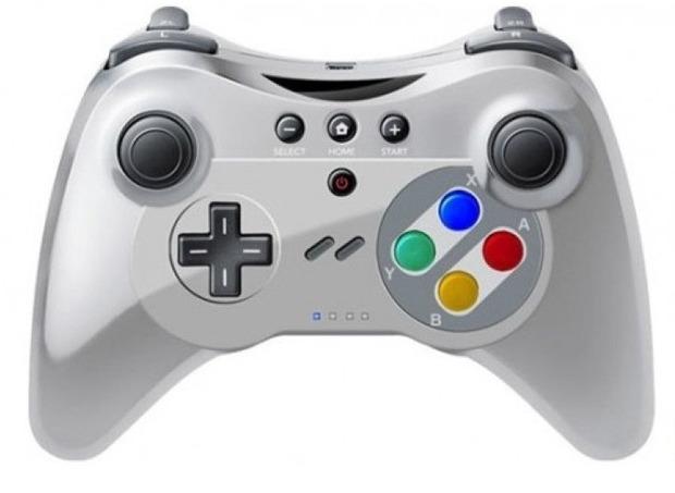 Un Wii U Pro Controller in stile SNES