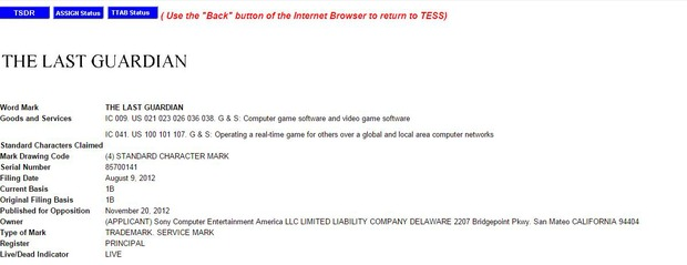 Il trademark di The Last Guardian torna nelle mani di Sony