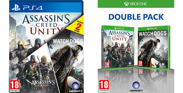 Ubisoft UK annuncia un 'Double Pack' con Watch Dogs e Assassin's Creed Unity