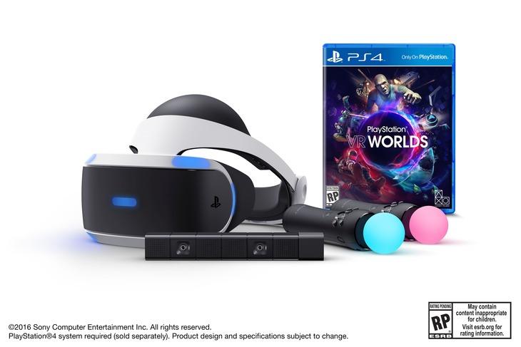 PlayStation VR: il bundle di lancio americano include telecamera, due controller Move e un gioco