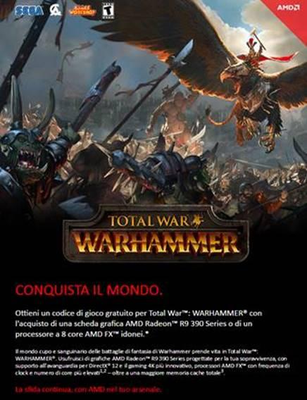 Total War Warhammer in regalo con alcuni prodotti AMD