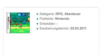 Paper Mario 3DS svela la data di lancio europea della nuova console Nintendo?