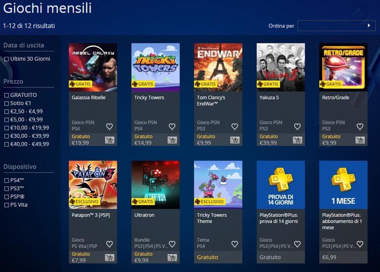 PlayStation Plus: Anche Tom Clancy's EndWar tra i giochi di Agosto