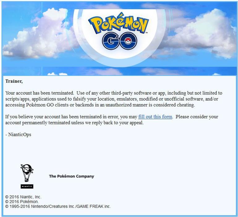 Pokemon GO: Ondata di ban in arrivo oggi