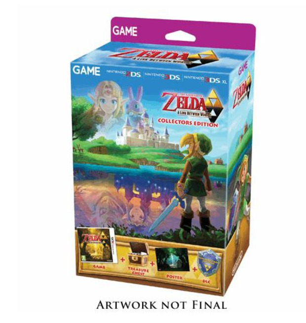 The Legend of Zelda: A Link Between Worlds - svelata l'edizione limitata esclusiva di GAME
