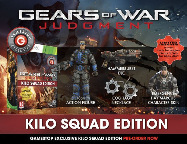 Gears of War: Judgment: Gamestop UK annuncia la Kilo Squad Edition