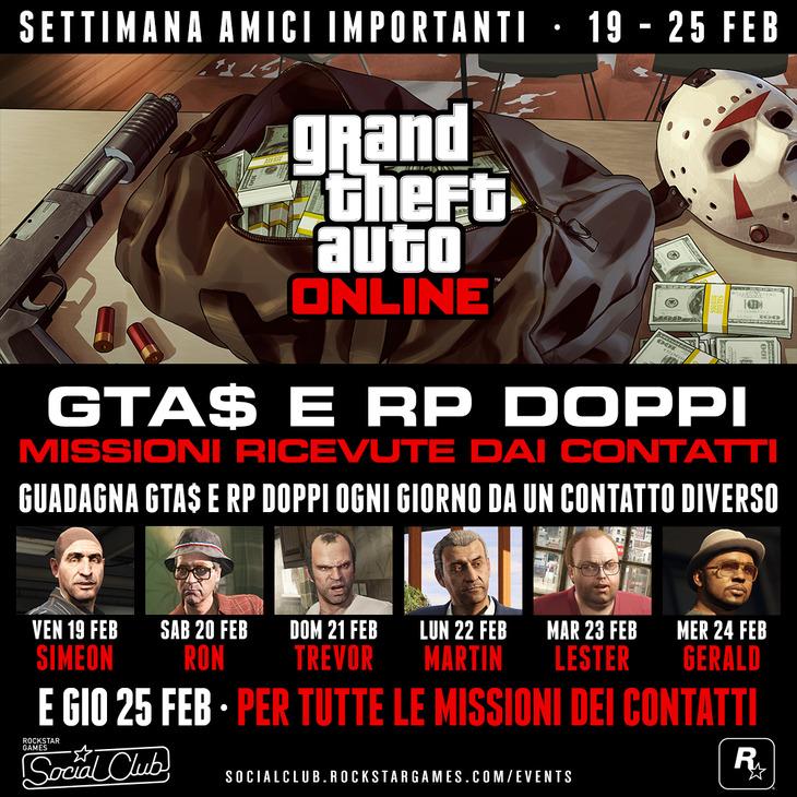 GTA Online: al via l'evento Settimana Amici Importanti