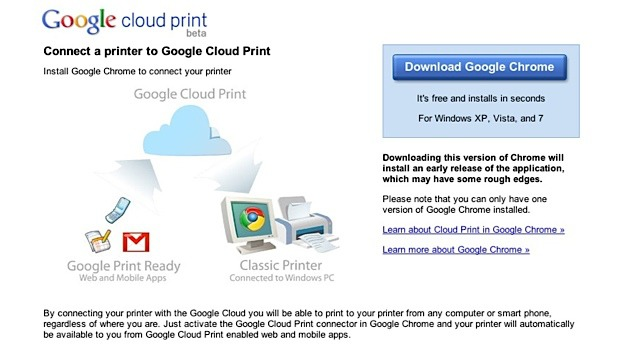 Google Chrome beta per android e Google Cloud Print si aggiornano