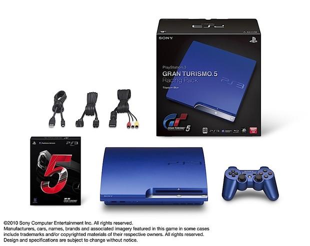 Nuova colorazione PlayStation 3 per GT5: Titanium Blue