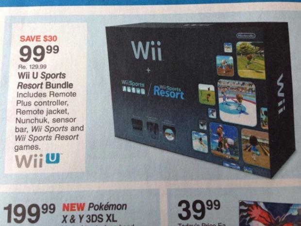 Wii U Sports Resort Bundle, errore nel volantino di una catena americana