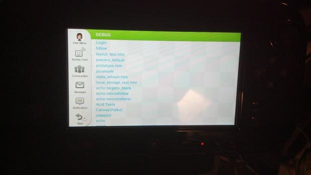 Un utente accede al debug mode della Wii U