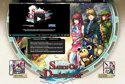Aperto il sito ufficiale USA di Sands of Destruction