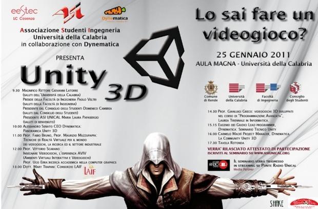 Unity3D: seminario ASI UNICAL sulla programmazione di videogiochi