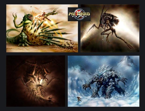 Metroid Prime, alcuni artwork mostrano la battaglia con Kraid mai realizzata