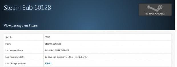 Samurai Warriors 4-II compare nel database di Steam