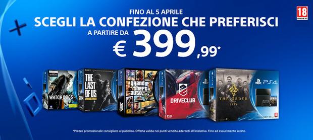PlayStation 4 con un gioco a partire da 399.99 euro dal 22 marzo al 5 aprile