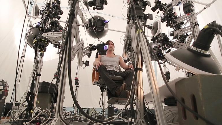 Death Stranding: foto di Norman Reedus durante le sessioni di motion capture