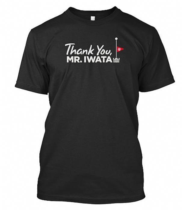 Una maglietta per ricordare Satoru Iwata: il ricavato delle vendite verrà devoluto in beneficenza