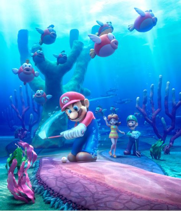 Mario Golf: World Tour - un'immagine render per il Cheep Cheep Lagoon