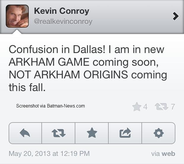 [Report] Kevin Conroy doppia Batman in un videogioco della serie Arkham, ma non è Batman: Arkham Origins