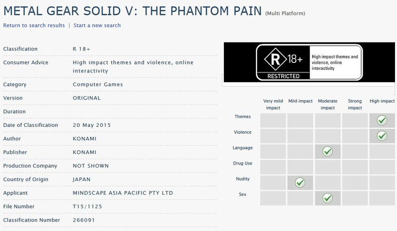 Scene di nudo e riferimenti espliciti in Metal Gear Solid 5 The Phantom Pain