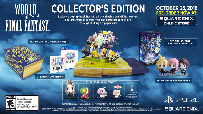 Annunciate le edizioni limitate di World of Final Fantasy