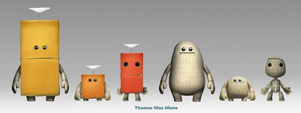 LittleBigPlanet 3: presente un pacchetto con i costumi di Thomas Was Alone