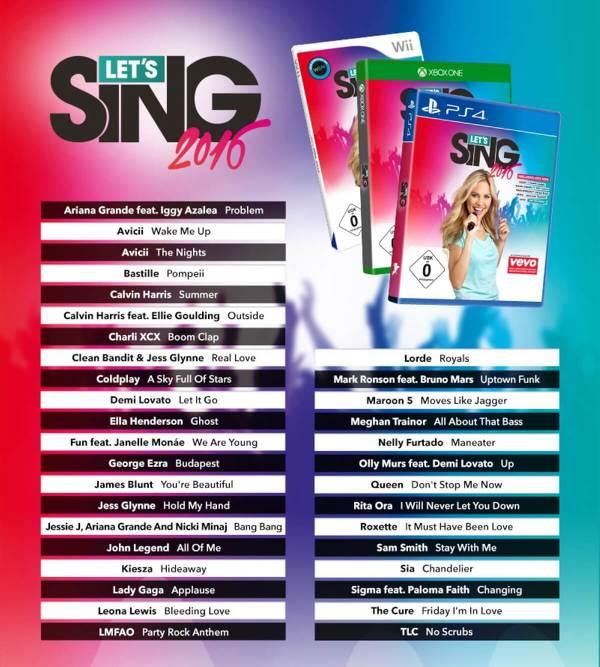 Let's Sing 2016, svelata la tracklist del gioco