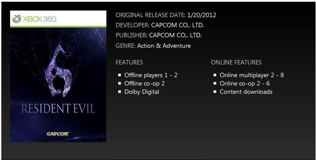 [Report] Resident Evil 6 disporrà di co-op online a 6 giocatori