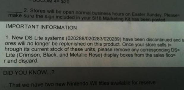 [Rumor] Il Nintendo DS Lite è fuori produzione