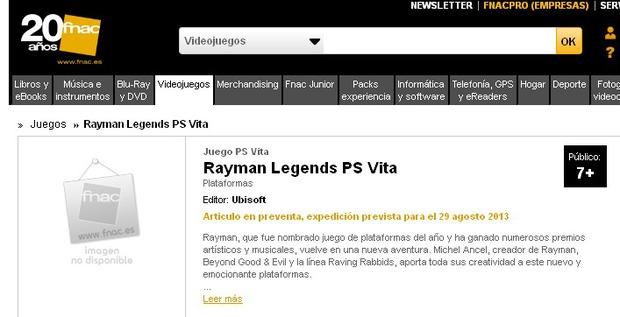 Rayman Legends in arrivo anche su PS Vita