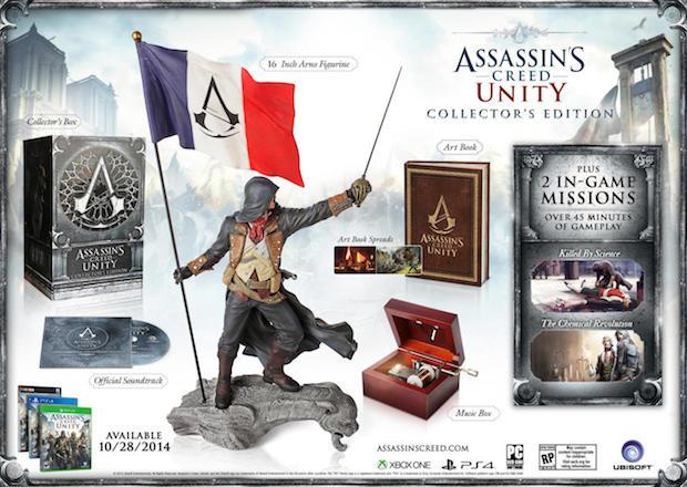 Assassin's Creed Unity: bonus preordine e limited edition per gli Stati Uniti